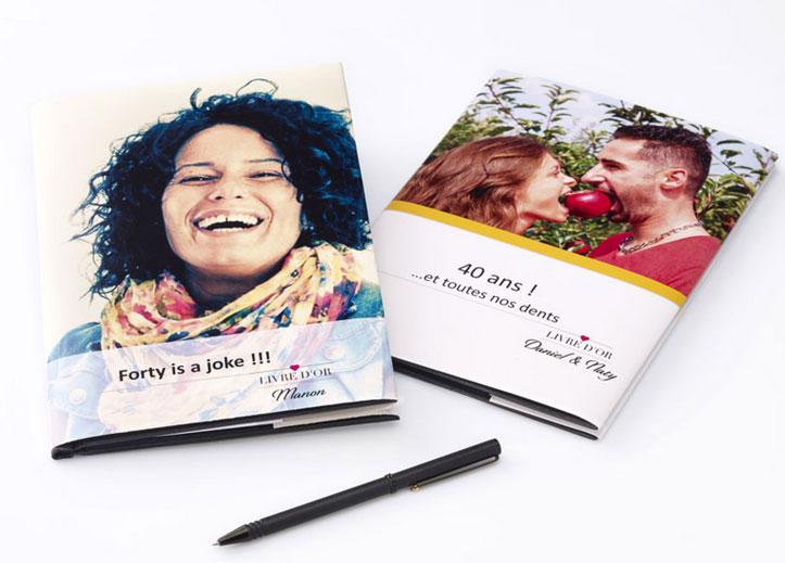 Exemples de livres d'or personnalisés