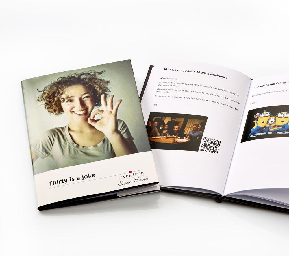 Exemple de livre d'or d'anniversaire